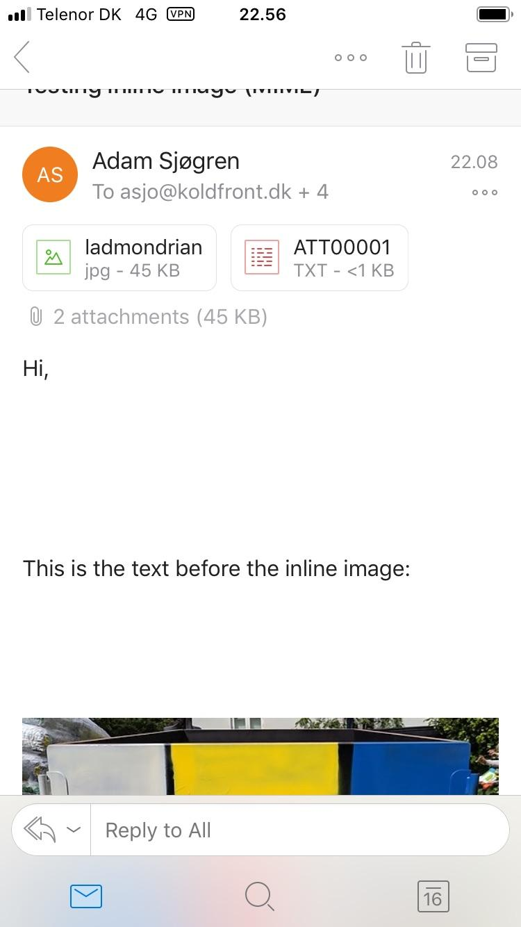 MIME support for inline images