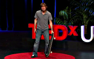 Rodney Mullen with skateboard at TEDxUSC