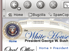 whitehouse.gov partial screenshot